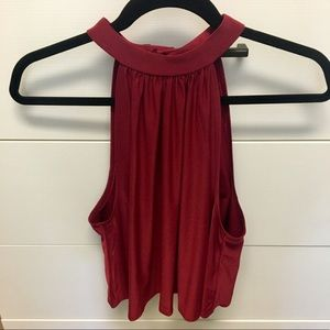 UO Pins & Needles Red Openback Top; S; like NEW
